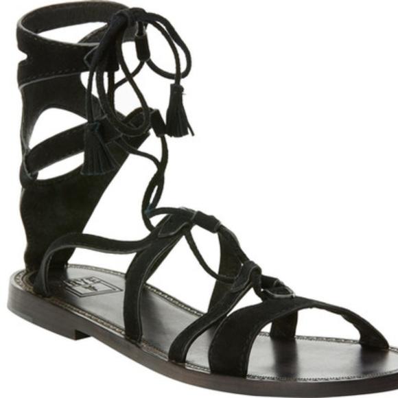 b530fb69a56 Frye Ruth Gladiator Short Sandal Black